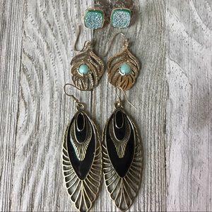 Jewelry - Feather Fashion Earring Bundle Set of 3